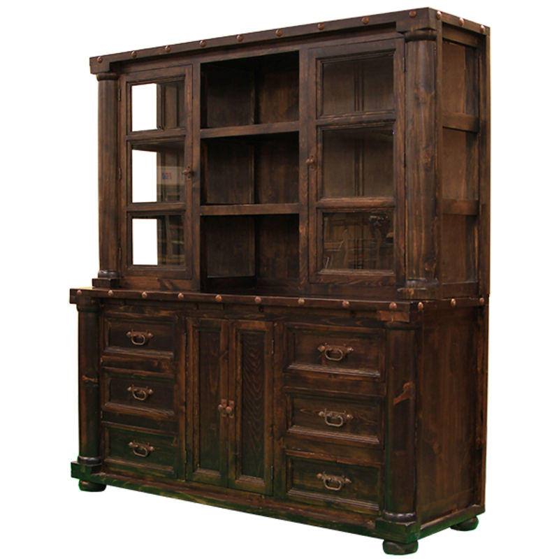 Sierra Madre Rustic China Cabinet