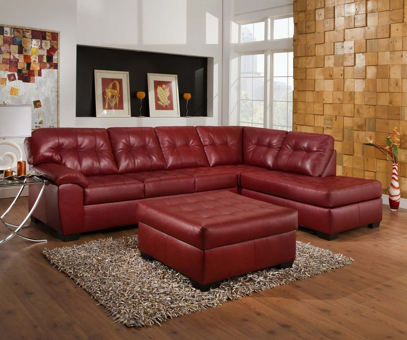 Soho Sectional Sofa in Cardinal