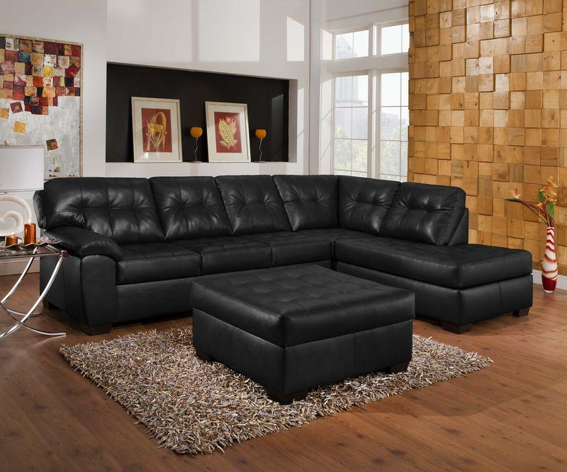 Soho Sectional Sofa In Onyx