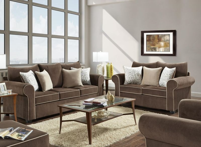 Spellbound Living Room Set in Fudge