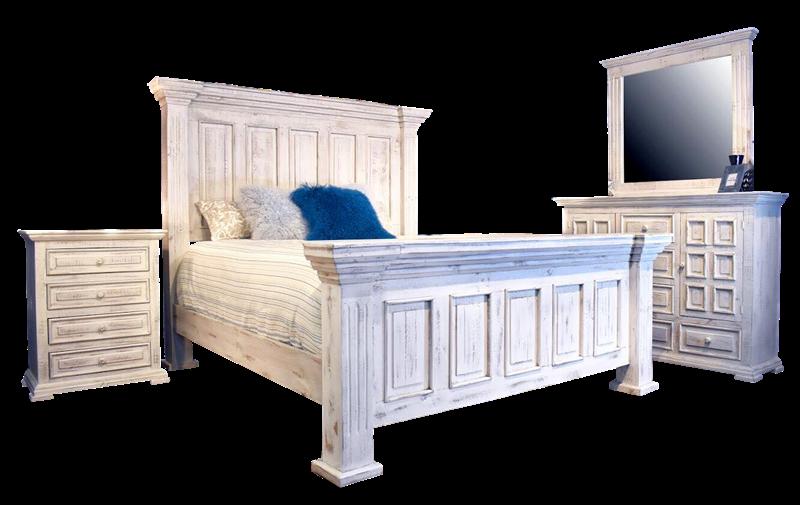 4145 4 Chalet White Panel Bedroom Split Nickel Free