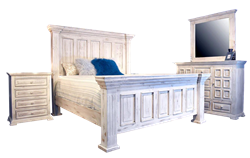 Chalet White Panel Rustic Bedroom Set