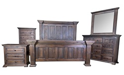 Chalet Dark Panel Rustic Bedroom Set