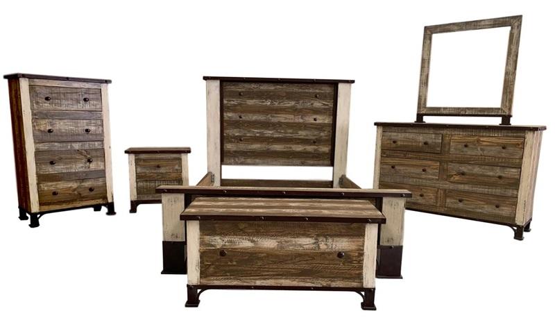 Amarillo Rustic Bedroom Set