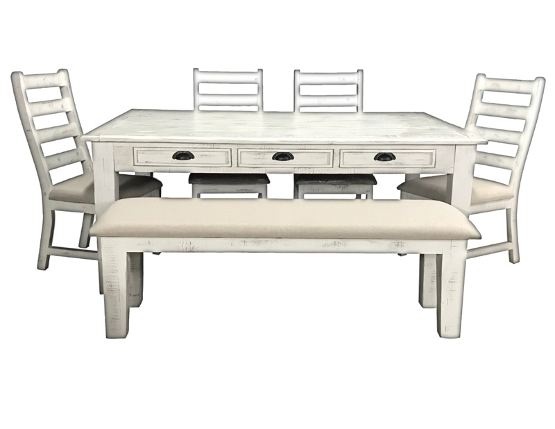 Joanna Rustic Dining Room Set with Bench