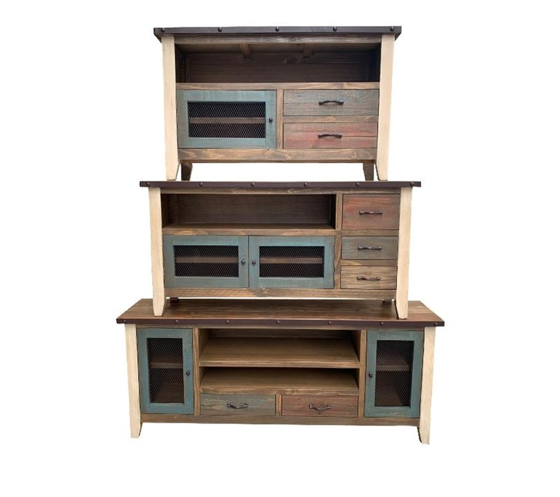 "3 Sizes 52-75"" Amarillo Rustic TV Stand"