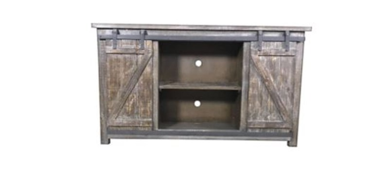 Sliding Barn Door Media Barnwood Rustic TV Stand