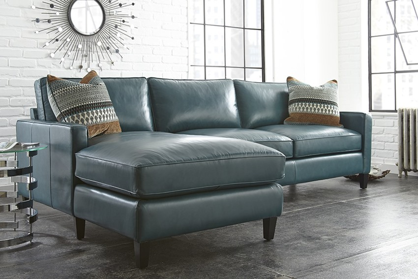 Dallas Designer Furniture St Croix Blue Green Leather
