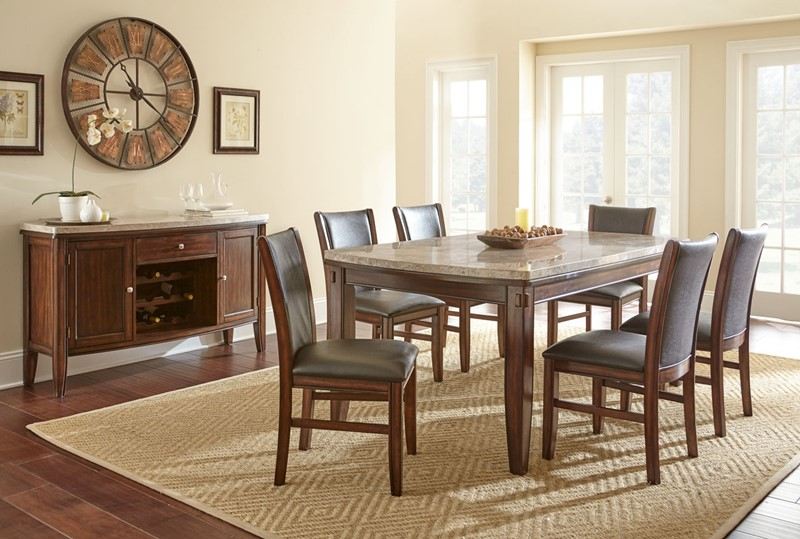 Superbe Eileen Marble Top Dining Room Set