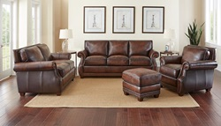 4 Piece Special Jamestown Top Grain Leather Sofa Set