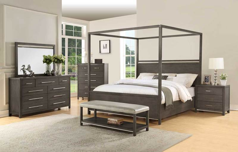 Katy Bedroom Set with Canopy Bed