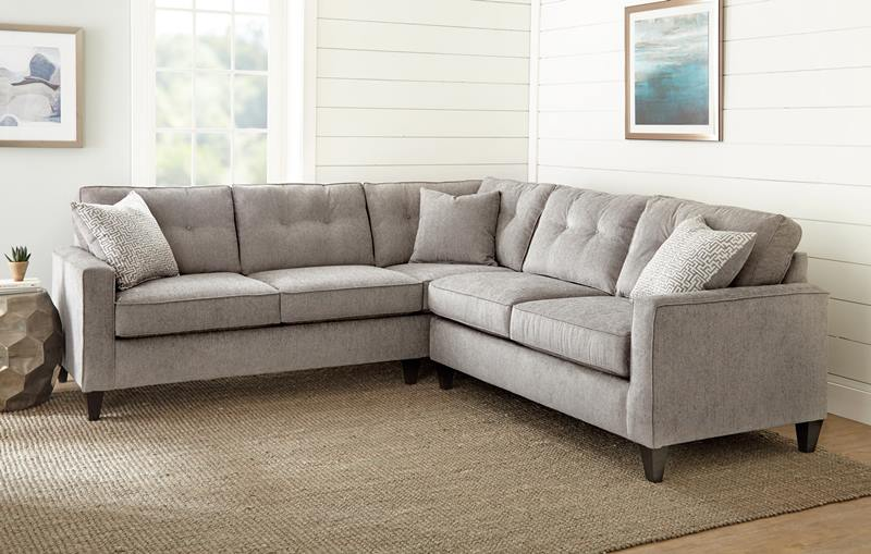 Maddox Grey Fabric Sectional