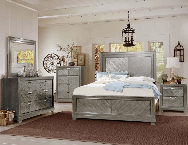 Montana Bedroom Set in Grey