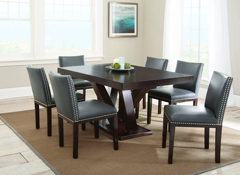 Dallas designer furniture andrea formal dining room set for Makeup by tiffany d dining room