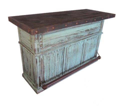 Turquoise Rustic Bar