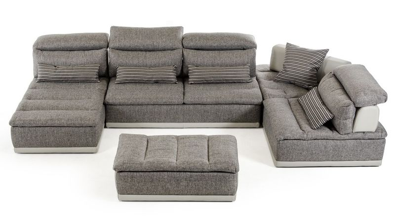 David Ferarri Panorama Italian Modern Grey Sectional