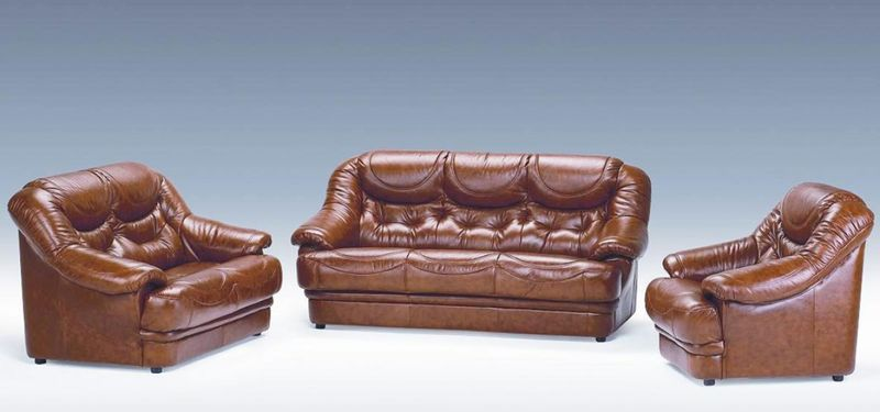 Dima Malaga Italian Leather Sofa Set