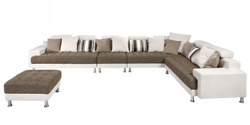 Divani Casa Modern Off White Sectional
