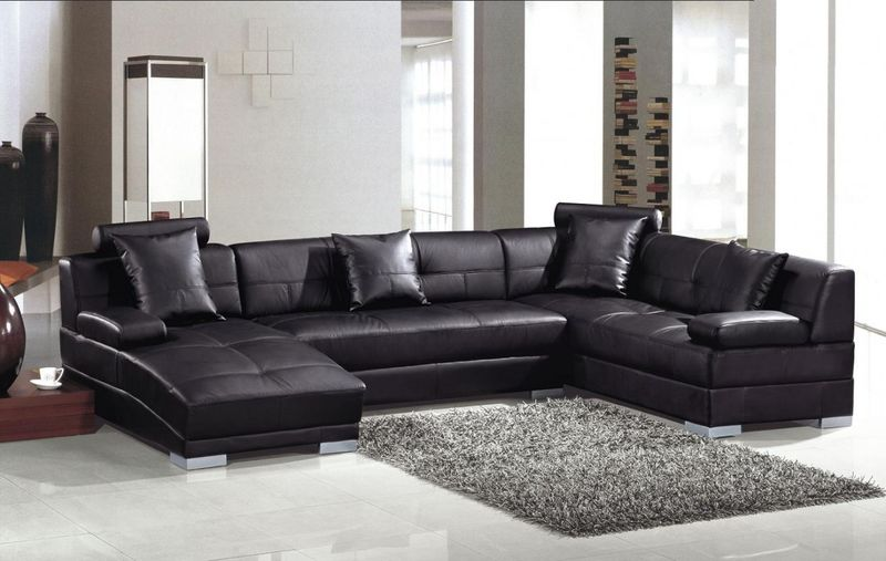 Divani Casa Ultra Modern Black Sectional