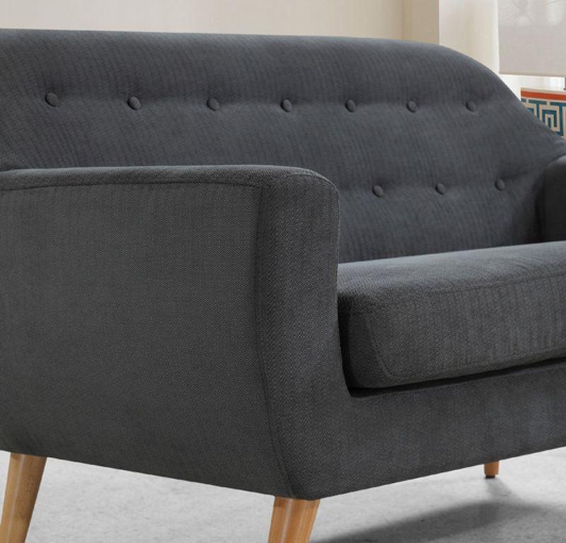 Divani Casa Afton Modern Grey Sofa Set