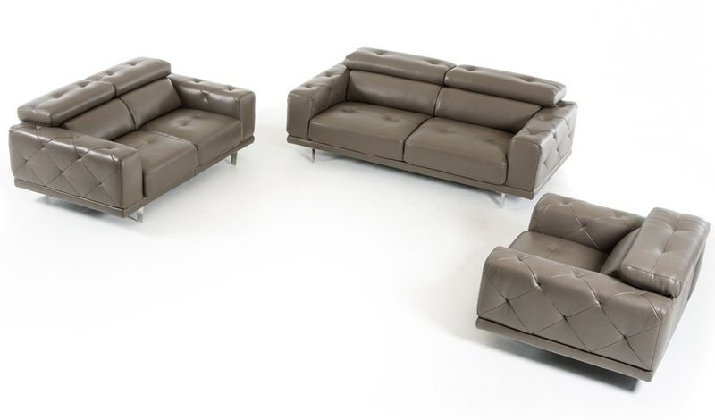 Divai Casa Albury Modern Leather Sofa Set