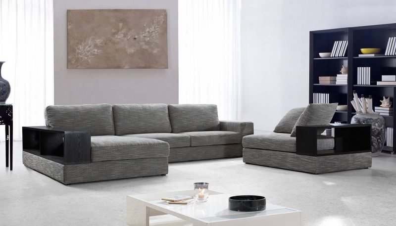 Divani Casa Anthem Grey Living Room Set