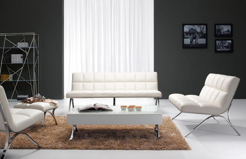 Divani Casa Antimony Modern White Sofa Set
