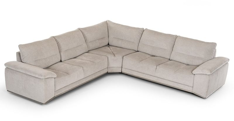 Divani Casa Antioch Modern Grey Sectional
