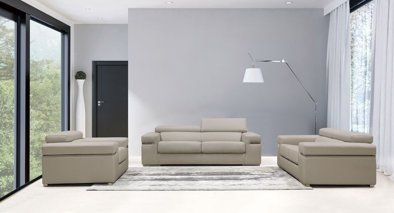 Divani Casa Atlantis Modern Light Grey Sofa Set
