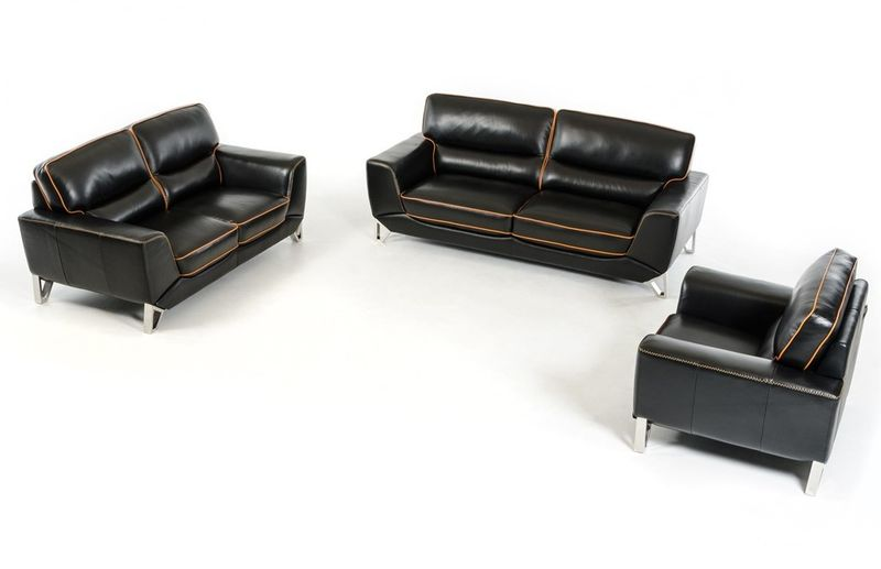 Divani Casa Barker Modern Leather Sofa Set