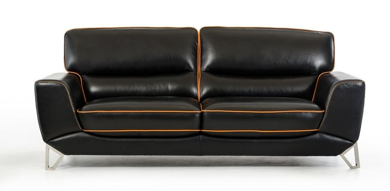 Dallas Designer Furniture Divani Casa Barker Modern Leather Sofa Set