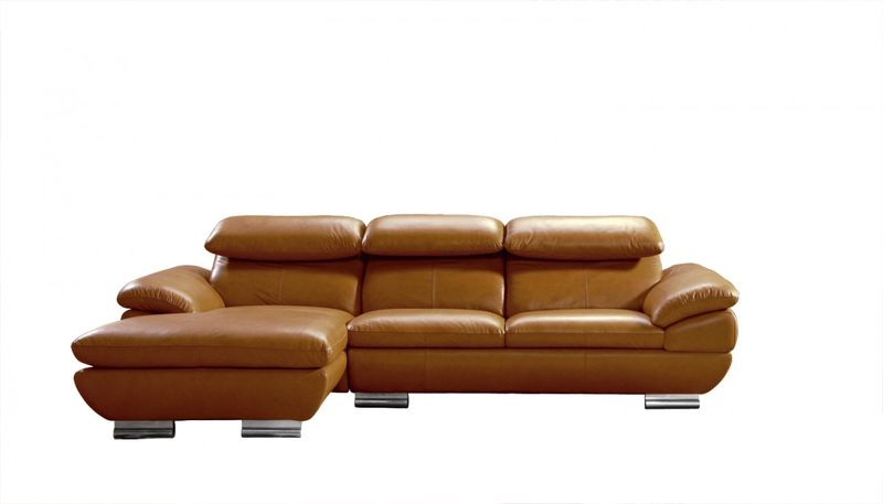 Divani Casa Modern Camel Leather Sectional