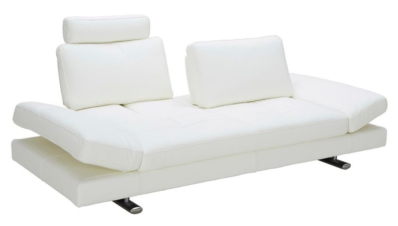 Divani Casa Chase Modern White Leather Sofa