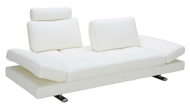 VIG | VGKK1372-WHT Divani Casa Chase Modern White Leather Sofa | Dallas  Designer Furniture