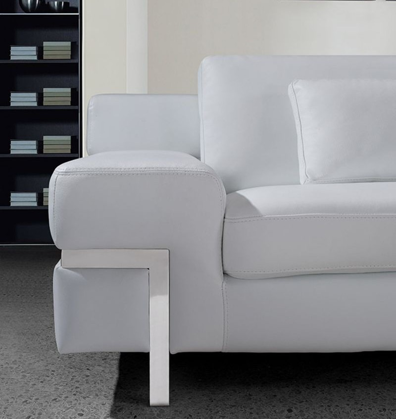VIG | VG2T0725 Divani Casa Clef Modern White Leather Sofa Set | Dallas  Designer Furniture