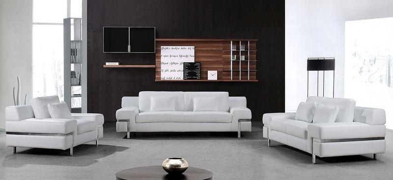 VIG | VG2T0725 Divani Casa Clef Modern White Leather Sofa Set | Dallas  Designer Furniture