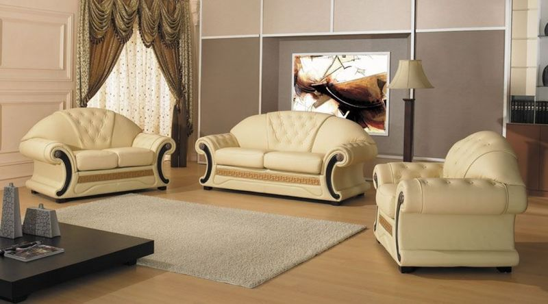 Divani Casa Cleopatra Leather Sofa Set