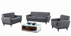 Divani Casa Corsair Modern Grey Sofa Set