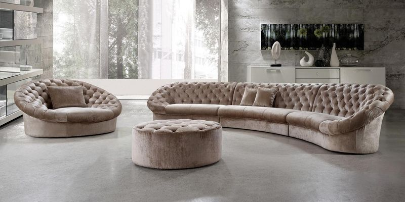 Divani Casa Cosmopolitan Beige Living Room Set
