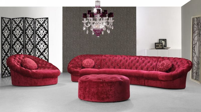 Divani Casa Cosmopolitan Mini Red Living Room Set