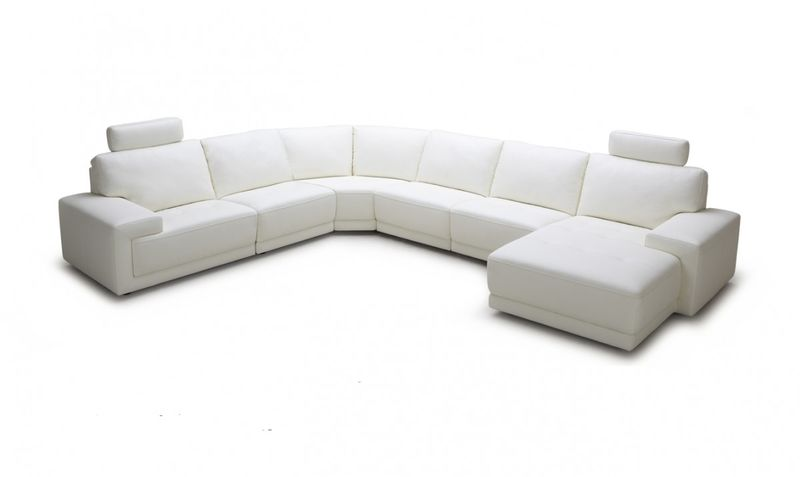 Divani Casa Cypress White Sectional