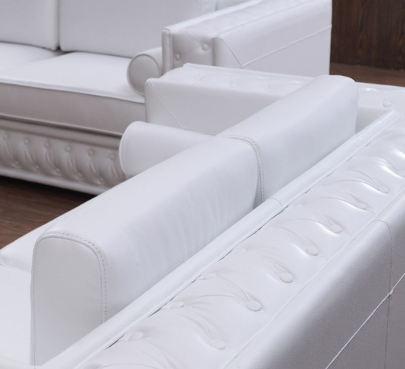 Divani Casa Dublin Modern White Leather Sofa Set