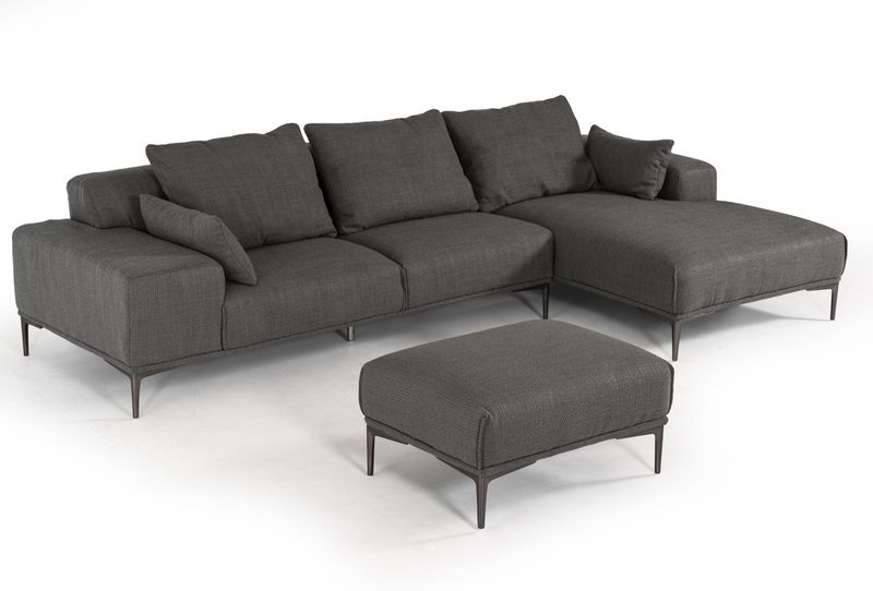 Divani Casa Durant Modern Sectional with Ottoman