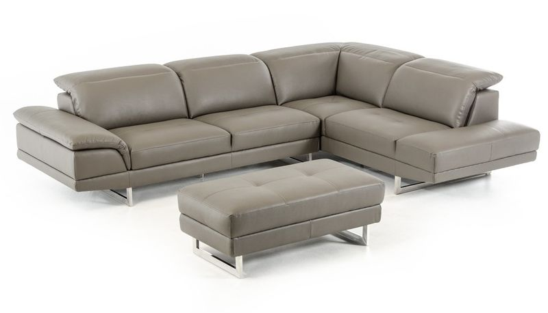Divani Casa Foxglove Modern Sectional with Ottoman