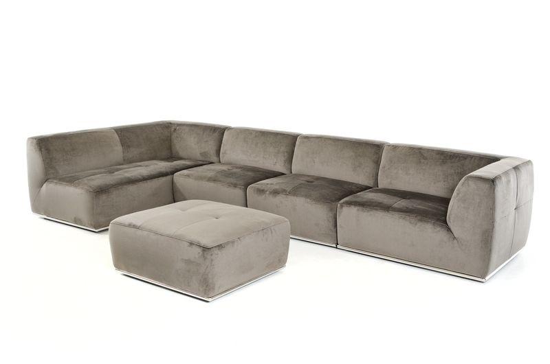 Divani Casa Hawthorn Modern Grey Sectional