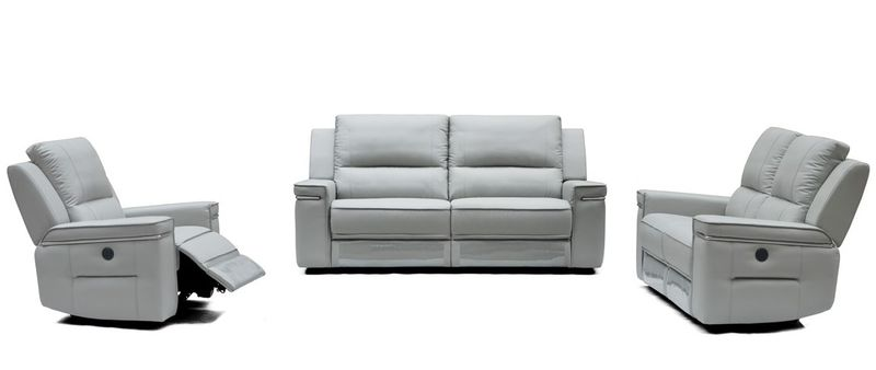 Divani Casa Hearst Modern Grey Reclining Sofa Set