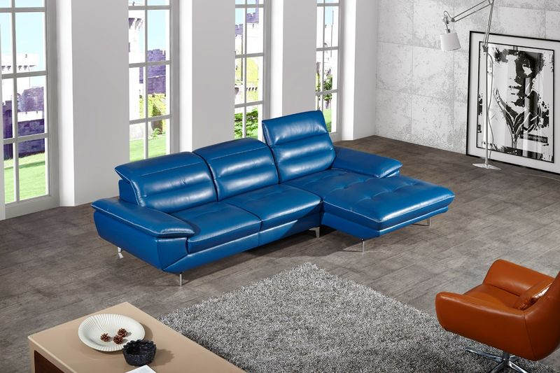 Divani Casa Hobart Modern Leather Sectional Sofa