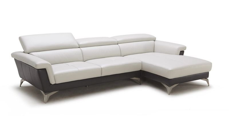 Divani Casa Holly Modern Leather Sectional Sofa