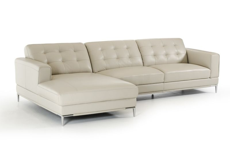 Divani Casa Larkspur Modern Grey Sectional Sofa