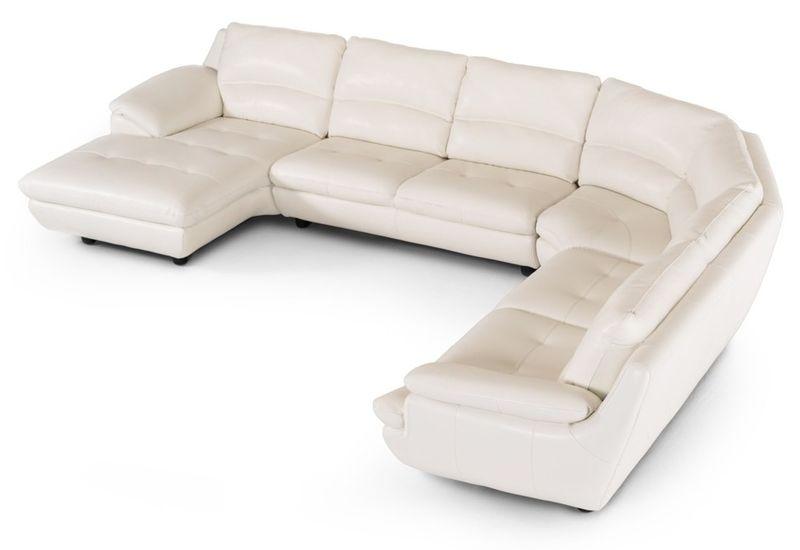 Divani Casa Levine Modern White Leather Sectional